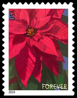 Poinsettia United States Postage Stamp