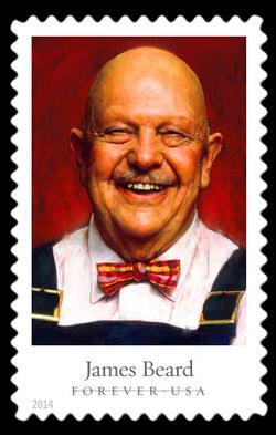 James Beard United States Postage Stamp | Celebrity Chefs