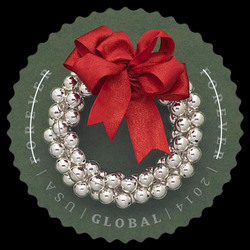 Silver Bells Wreath United States Postage Stamp