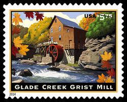 Glade Creek Grist Mill United States Postage Stamp