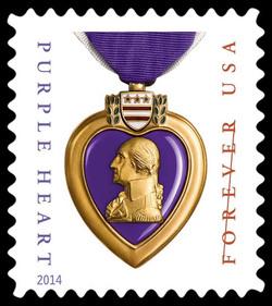 Purple Heart Medal United States Postage Stamp