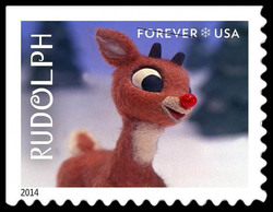 Rudolph United States Postage Stamp | Rudolph the Red-Nosed Reindeer