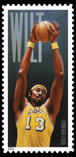 Wilt Chamberlain - Los Angeles Lakers United States Postage Stamp | Wilt Chamberlain