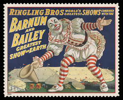 Iconic Vintage Circus Poster United States Postage Stamp