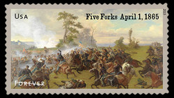 Battle of Five Forks - April 1, 1865 United States Postage Stamp | Civil War Sesquicentennial
