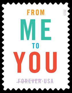 From Me to You United States Postage Stamp