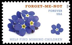 Forget-me-not - Missing Children United States Postage Stamp