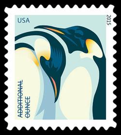 Emperor Penguins United States Postage Stamp