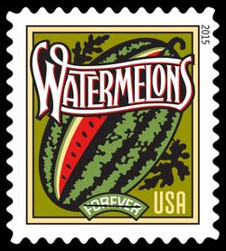 Watermelons United States Postage Stamp | Summer Harvest