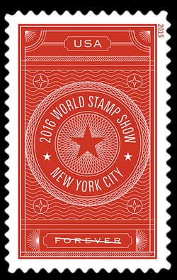2016 World Stamp Show - Red United States Postage Stamp | World Stamp Show–NY 2016