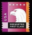 Purple-Orange Eagle United States Postage Stamp | Spectrum Eagle