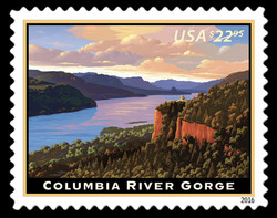 Columbia River Gorge United States Postage Stamp