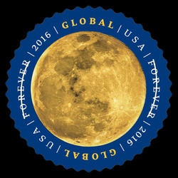 The Moon United States Postage Stamp
