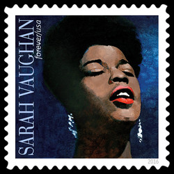 Sarah Vaughan United States Postage Stamp | Music Icons