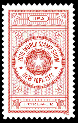 2016 World Stamp Show - Red United States Postage Stamp | World Stamp Show-NY 2016 Folio