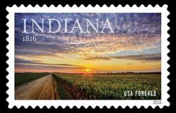 Indiana Statehood - 1816 United States Postage Stamp | Statehood