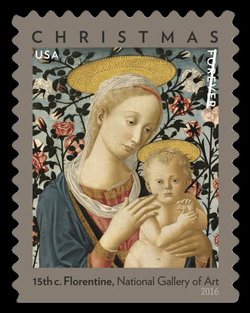 Florentine Madonna and Child United States Postage Stamp