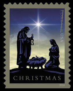 Nativity United States Postage Stamp