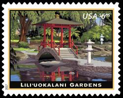 Lili'uokalani Gardens United States Postage Stamp