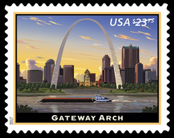 Gateway Arch United States Postage Stamp