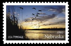 Nebraska Statehood United States Postage Stamp | Statehood
