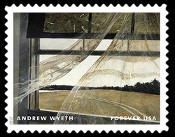 Wind From the Sea - 1947 United States Postage Stamp | Andrew Wyeth
