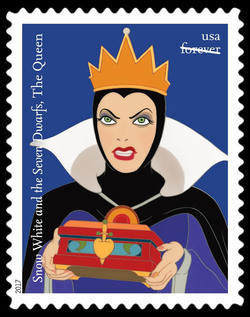 The Queen - Snow White and the Seven Dwarfs United States Postage Stamp | Disney Villains