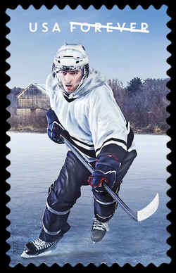 The History of Hockey - Modern Era United States Postage Stamp | The History of Hockey