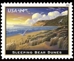 Sleeping Bear Dunes United States Postage Stamp