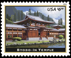 Byodo-In Temple United States Postage Stamp