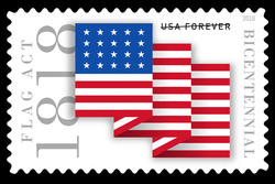 Flag Act of 1818 United States Postage Stamp