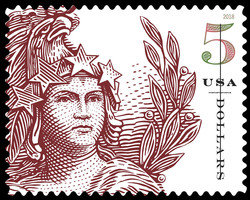 Statue of Freedom - Red United States Postage Stamp | Statue of Freedom
