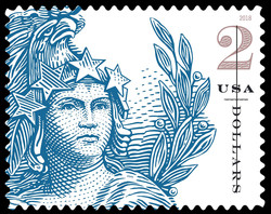 Statue of Freedom - Blue United States Postage Stamp | Statue of Freedom
