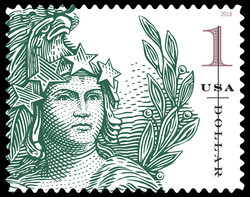 Statue of Freedom - Green United States Postage Stamp | Statue of Freedom