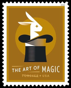 Rabbit in a Hat - Production United States Postage Stamp | The Art of Magic