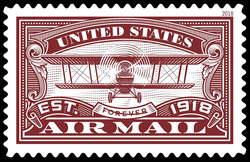 United States Air Mail (Red) United States Postage Stamp | Air Mail