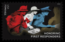 Honoring First Responders United States Postage Stamp