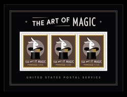 The Art of Magic Souvenir Sheet United States Postage Stamp