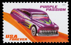Purple Passion United States Postage Stamp | Hot Wheels