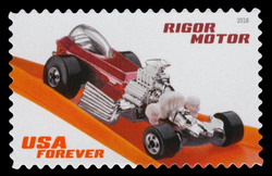 Rigor Motor United States Postage Stamp | Hot Wheels