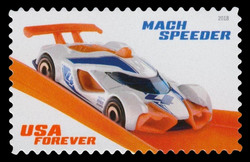 Mach Speeder United States Postage Stamp | Hot Wheels