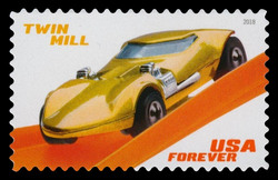 Twin Mill United States Postage Stamp | Hot Wheels