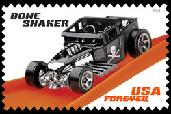 Bone Shaker United States Postage Stamp | Hot Wheels