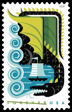 Black Dragon United States Postage Stamp | Dragons