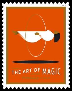 Woman Floating - Levitation United States Postage Stamp | The Art of Magic