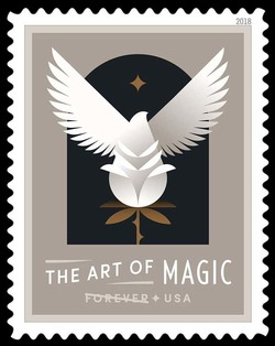 Bird Emerging from Flower - Transformation United States Postage Stamp | The Art of Magic