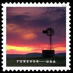 Grasslands Wildlife Management Area United States Postage Stamp | O Beautiful