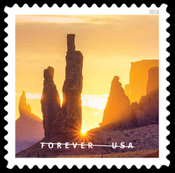 Monument Valley Navajo Tribal Park United States Postage Stamp | O Beautiful