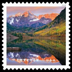 Maroon Bells Peaks United States Postage Stamp | O Beautiful