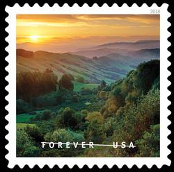 Sunrise near Orinda, California United States Postage Stamp | O Beautiful